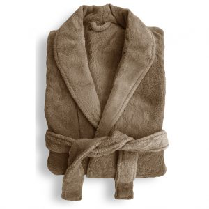 Microplush Robe Oyster