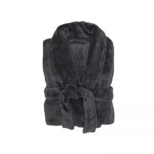 Microplush robe charcoal