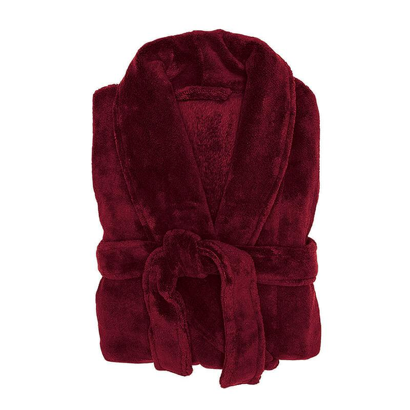 Microplush robe merlot