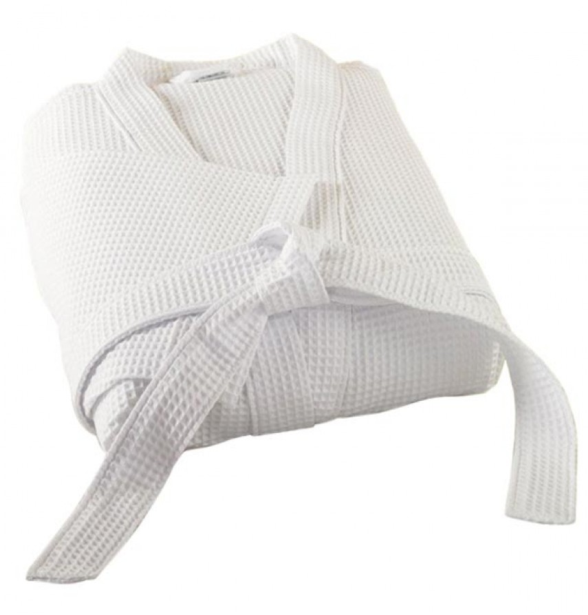 1c89bbcb2c Waffle Weave Kimono Bath Robe - Marbret International