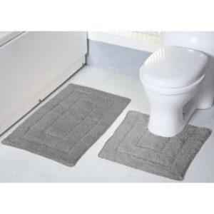 tufted-bath-mat-set-grey